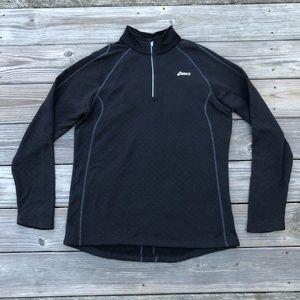Asics Women Athletic Sport Top Jacket Black
